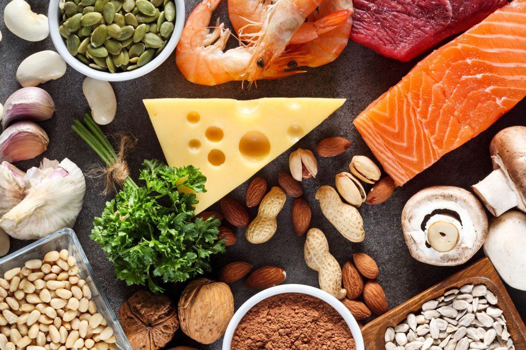 Potraviny, které obsahují zinek.